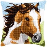 "16""X16"" - Fiery Stallion Cushion Cross Stitch Kit"