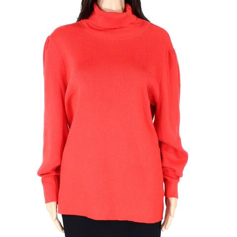 Lauren by Ralph Lauren Women's Sweater Orange Size 2X Plus Turtleneck