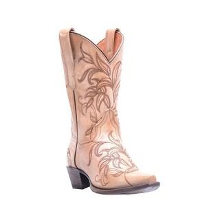 Dan Post Western Boots Womens Snip Leather Nora Bone