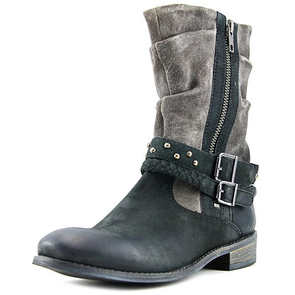 Matisse Outback Women Round Toe Leather Black Ankle Boot