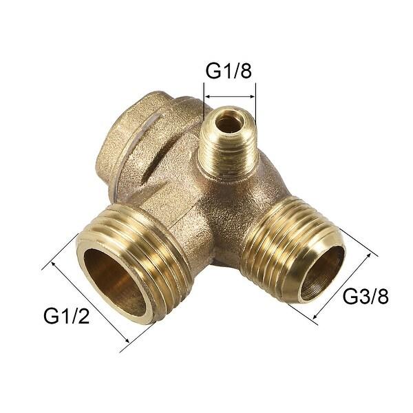 "Air Compressor Check Valve 90 Degree Male Threaded Brass 1//8/"" x 1//4/"" x 3//8/"""