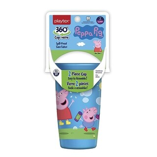 Playtex 360 Degree Spoutless Cup, Peppa Pig, Stage 2, 12M+, 10 Oz