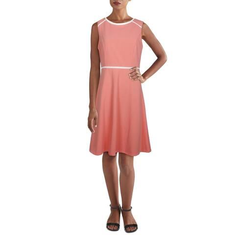 Tommy Hilfiger Womens Fit & Flare Dress Mini Scuba - Bloom