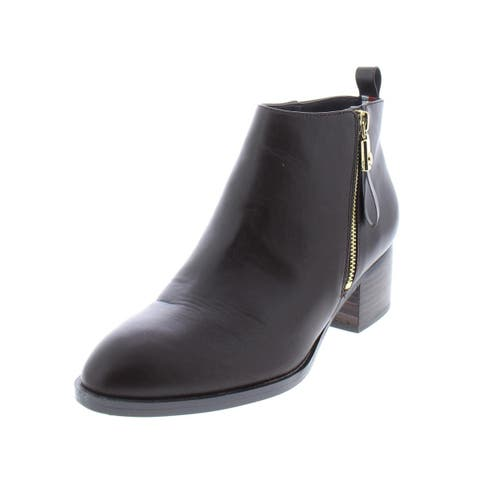 Tommy Hilfiger Womens Reiz 2 Booties Faux Leather Stacked