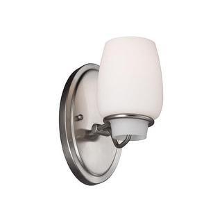 Feiss VS40001-BS Colby 1-Light Vanity Strip Light Fixture Brushed Steel Finish
