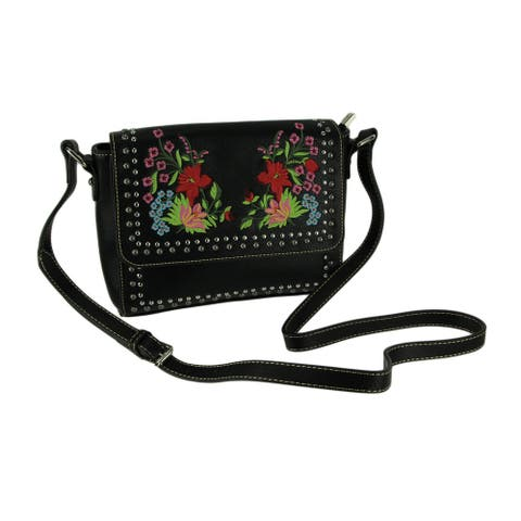 Montana West Embroidered Collection Floral Crossbody Purse