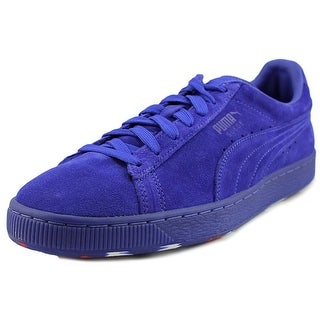 Puma Suede Classic Iced Rubber Mix Men Round Toe Suede Blue Sneakers
