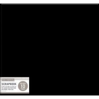 "K&Company Faux Leather Post Bound Basic Album 12""X12""-Black - Black"