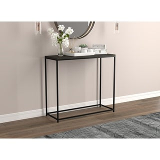 """Link to Console Table 31L Dark Grey Wood Black Metal - 31"""" x 12"""" x 28"""" Similar Items in Living Room Furniture"""