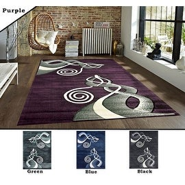 2x7.2 5.3x7.2 8x10 Feet Rug Carpet Area Rug Green Black Purple Blue Polyester Modern Contemporary