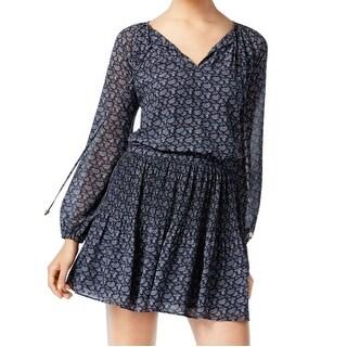 Michael Kors NEW Blue Women's Size Small S Blouson Peasant Dress