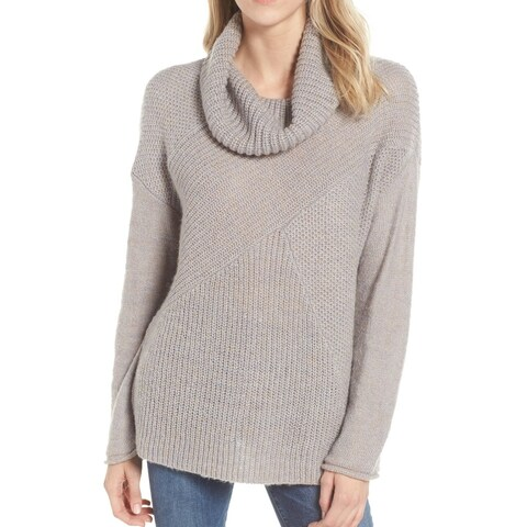 Caslon Gray Mixed Stitch Funnel Neck Women's Size XXL Sweater