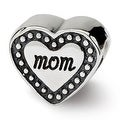 Sterling Silver Reflections Mom Heart Bead (4mm Diameter Hole) - Thumbnail 0