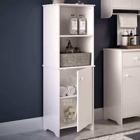 RiverRidge Medford Collection Tall Floor Cabinet - White