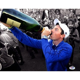Rory Mcilroy 11x14 Drinking Champagne Photo PSADNA