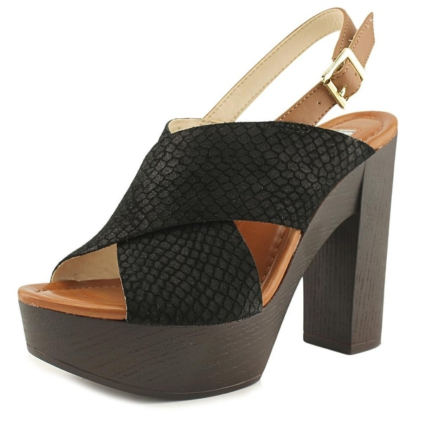 INC International Concepts CYLE Women Black Sandals