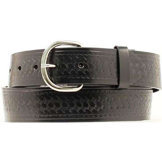 Nocona Western Belt Mens Leather Weave Stamped Black