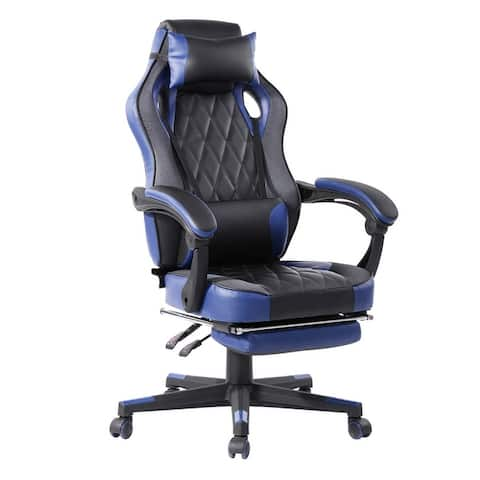 Porch & Den Racing Style Gaming Chair with Footrest