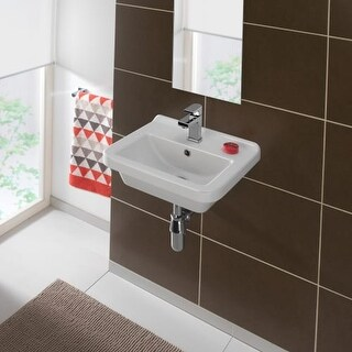 "Bissonnet Erika 45 Pro 17-11/16"" Vitreous China Wall Mounted Bathroom Sink with"