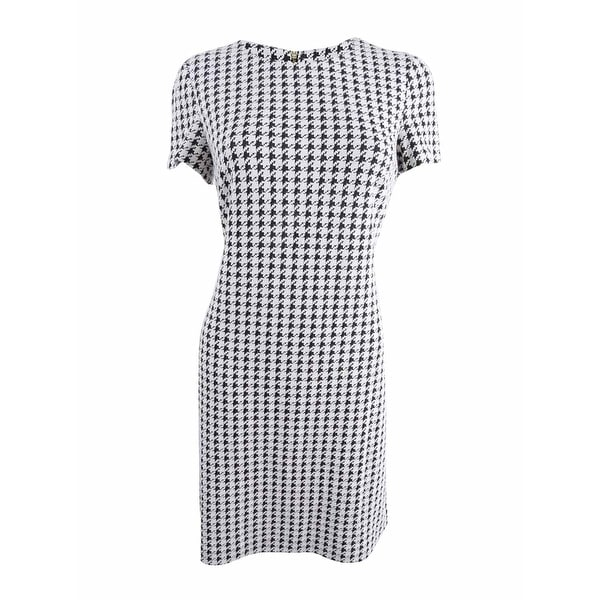 c4040b96 Shop Calvin Klein Women's Petite Houndstooth Shift Dress (8P, Black Cream)  - Black Cream - 8P - On Sale - Free Shipping Today - Overstock - 25560603