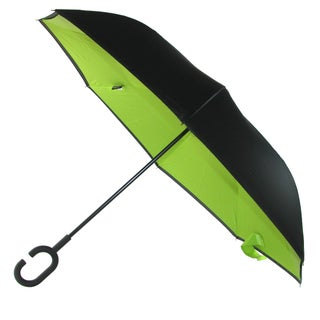 ShedRain Reverse Closing UnbelievaBrella Umbrella (Option: black and sour apple green)