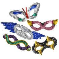 Sequin Mardi Gras Half Masks