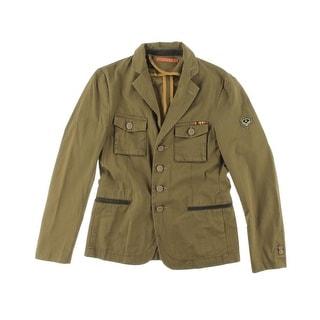 Zara Mens Twill Embroidered Military Jacket - XL