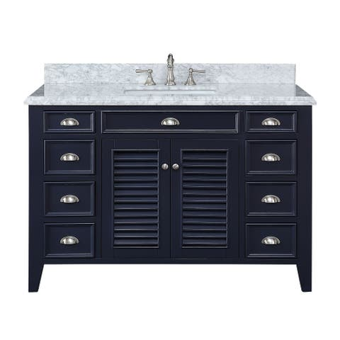 "50"" Shutter Blinds Kalani Single Sink Bathroom Sink Vanity"