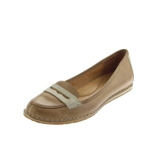 Naya Womens Debbie Leather Round Toe Loafers - 5 medium (b,m)