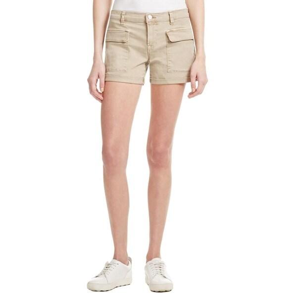 J Brand Womens Kai Cargo Shorts Deep Front Pockets Cuffed