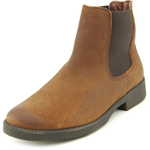 Coolway MC-6 Women Round Toe Leather Brown Ankle Boot