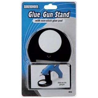 Black - Glue Gun Stand W/Non-Stick Glue Pad