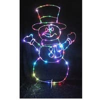 Celebrations 50890-71 LED Micro Dot Snowman Christmas Decoration, Multicolored, Iron