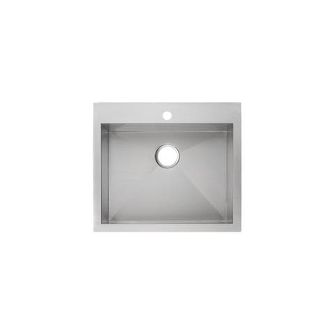 "Mirabelle MIRDM2522Z1 Sitka 25"" Drop In or Undermount Single Basin Kitchen Sink with Sound Dampening -"