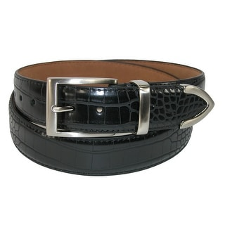PGA Men's Croco Print 3 Piece Leather Belt