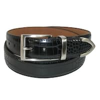 PGA TOUR Men's Croco Print 3 Piece Leather Belt