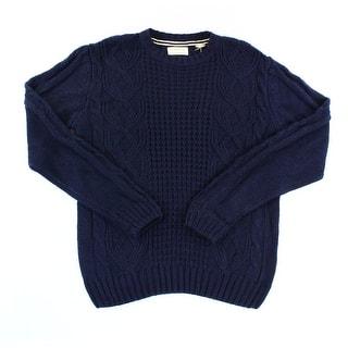 Weatherproof NEW Navy Blue Mens Size Large L Crewneck Cable-Knit Sweater|https://ak1.ostkcdn.com/images/products/is/images/direct/4c9efa1c96d395b6a6d08e02da112c8f8e37527c/Weatherproof-NEW-Navy-Blue-Mens-Size-Large-L-Crewneck-Cable-Knit-Sweater.jpg?impolicy=medium