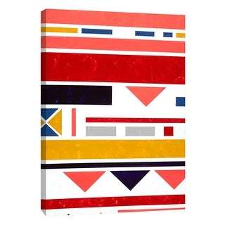 """PTM Images 9-108457  PTM Canvas Collection 10"""" x 8"""" - """"Voyage 4"""" Giclee Abstract Art Print on Canvas"""
