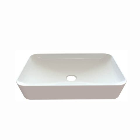 "WS Bath Collections Ultra UL 060 Ultra 23-3/5"" Vessel Bathroom Sink - Ceramic White"