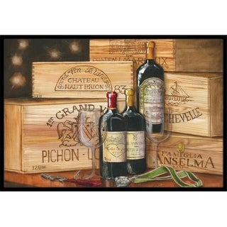 Carolines Treasures TMTR0254MAT Wine Gran Vin by Malenda Trick Indoor or Outdoor Mat 18 x 27