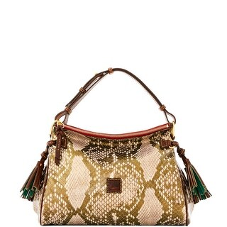 Dooney & Bourke City Python Medium Zip Hobo (Introduced by Dooney & Bourke at $298 in Sep 2016) - Gold
