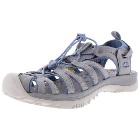 Keen Womens Whisper Fisherman Sandals Woven Bungee - Blue Shadow/Alloy
