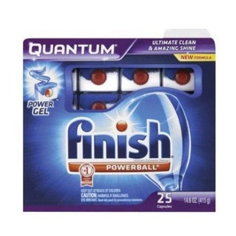 Finish 5170083533 Quantum Dishwasher Detergent, 25 Count