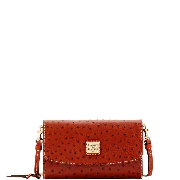 Dooney & Bourke Ostrich Embossed Leather Clutch Wallet Wallet (Introduced by Dooney & Bourke at $178 in May 2017)