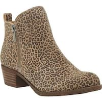Lucky Brand Women's Basel Bootie Eyelash Sophia Leopard/Leather