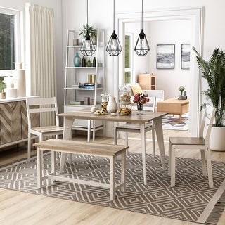 Link to Furniture of America Sabina Modern 5-piece Dining Set With Bench Similar Items in Dining Room & Bar Furniture