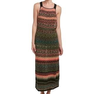 Free People NEW Orange Womens Size XS Knit Crisscross Maxi Dress