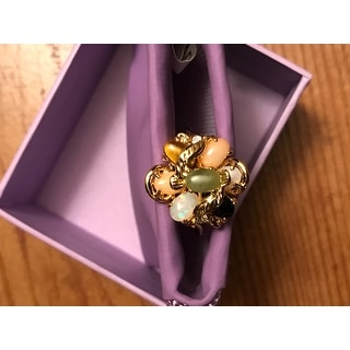 Oval-Shaped Coral, Opal, Jade, Onyx And Tiger'S-Eye Cluster Ring Naturalis