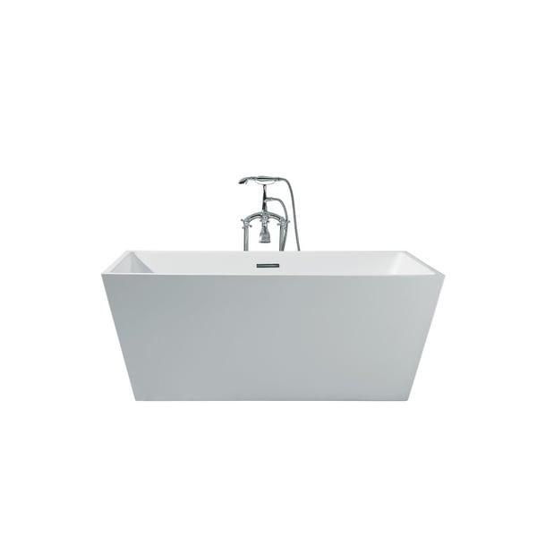 "Ariel PS116-6732 Verona 67"" Soaking Free Standing Bathtub with Center Drain - White"