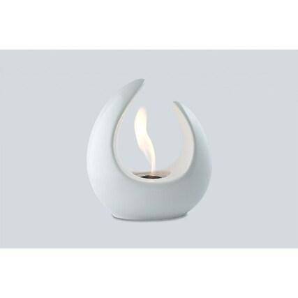 Ignis CTF 003W Mika White Ceramic Tabletop Ventless Ethanol Fireplace